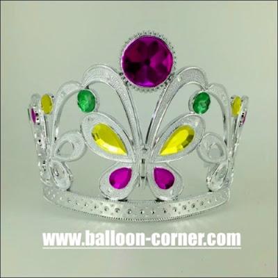 Mahkota Ratu Motif Kupu-Kupu Untuk Pesta Ulang Tahun Dewasa