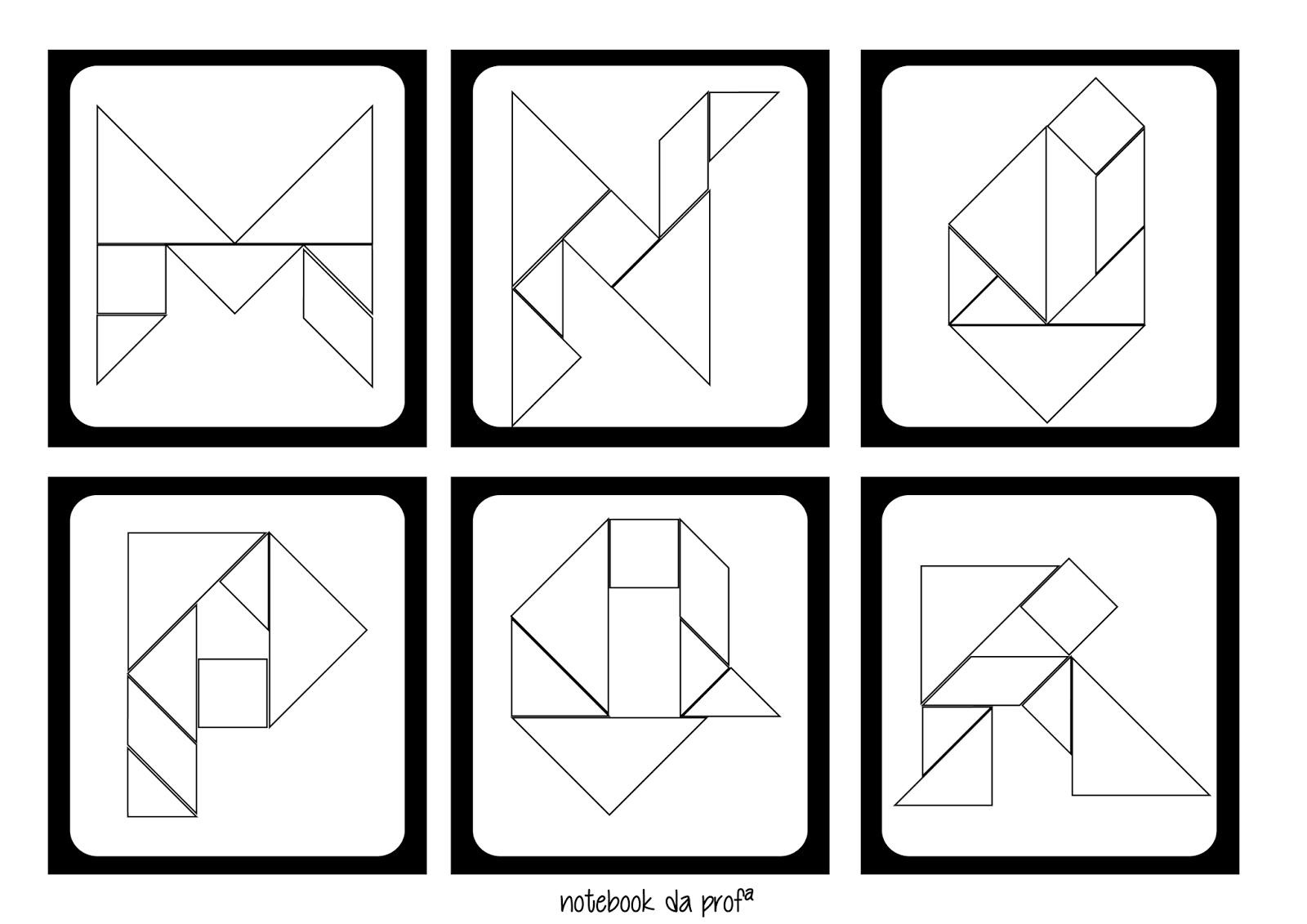 Escuela Infantil Castillo De Blanca Tarjetas De Letras Tangram