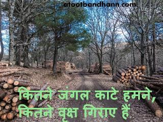 कितने जंगल काटे हमने, कितने वृक्ष गिराए हैं