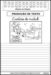 Produção de texto cartão de natal