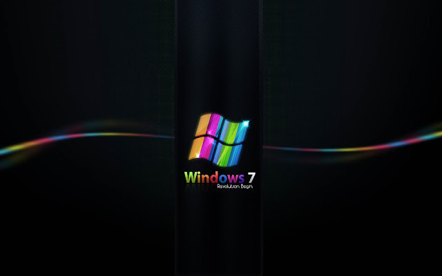 Zwarte Windows 7 wallpaper
