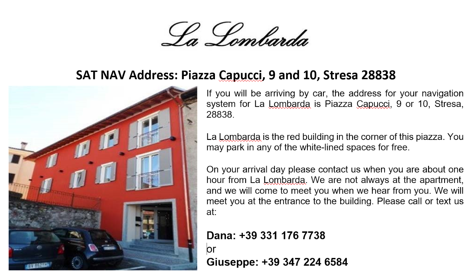 La Lombarda Apartments Are About A 15 Minute Walk From The Train Station  (Stazione F.S. On The Map). If You Are Using The Alibus Shuttle, La  Lombarda Is A ...