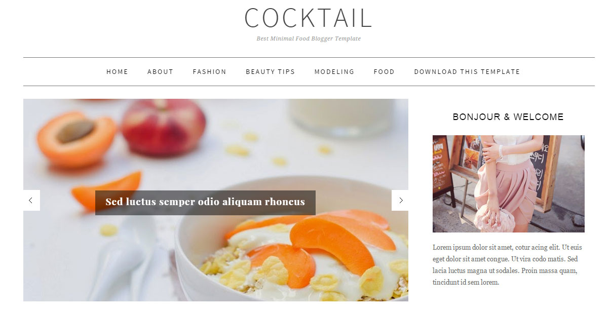 CockTail Responsive Blogger Template