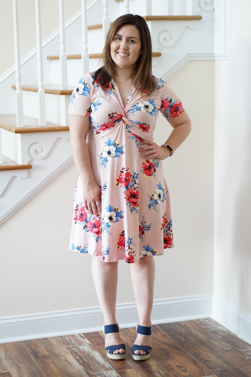 North Carolina style blogger Rebecca Lately shares how to style a simple floral dress for spring.  Check it out to read about her ethical find!