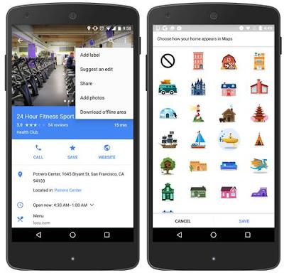 Fitur Terbaru Dari Google Maps, Stiker Penanda Pada Lokasi Favorit