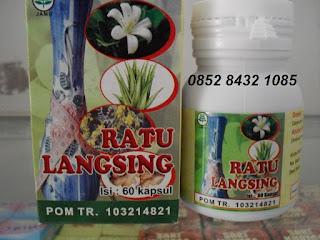 Jual obat jamu alami pelangsing tubuh herbal RATU LANGSING Asli BPOM