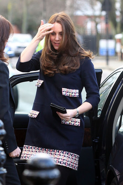 Kate, who is five months pregnant, is royal patron of The Art Room