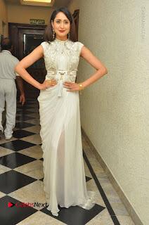Actress Pragya Jaiswal Stills in Beautiful White Dress at turodu Audio Launch  0039.JPG
