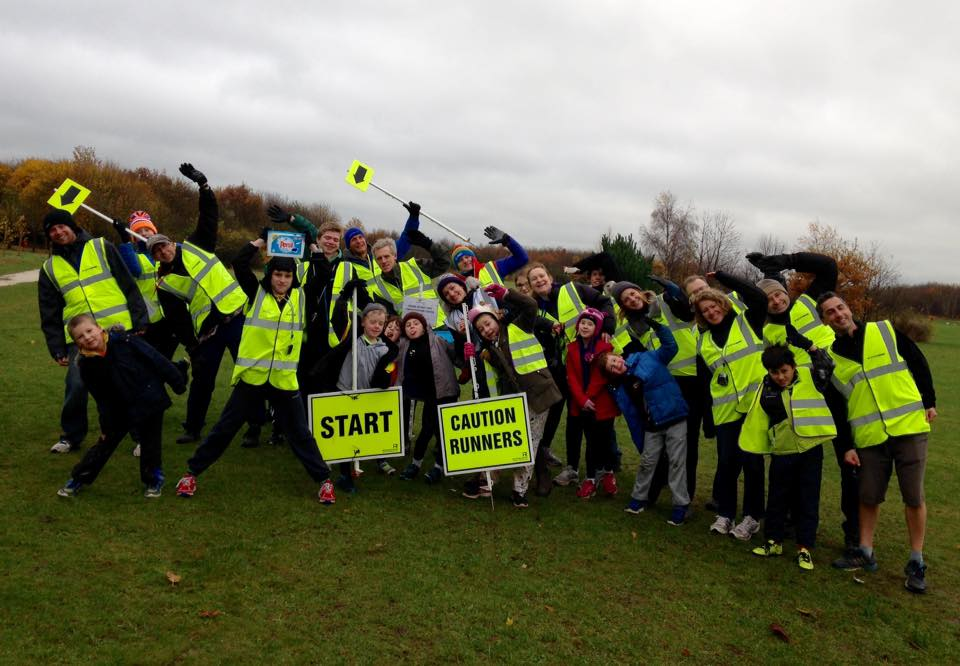 Lucy with the participants of Rushcliffe's Junior Park Run.