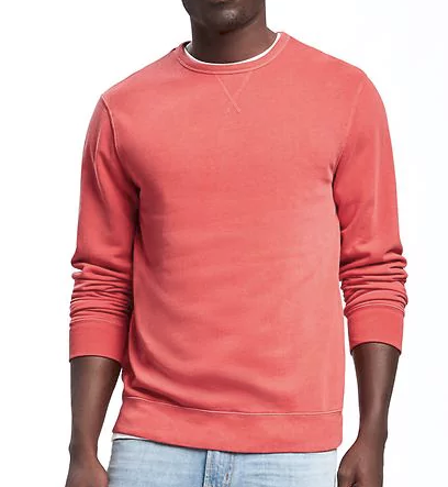 red sweater at Old Navy