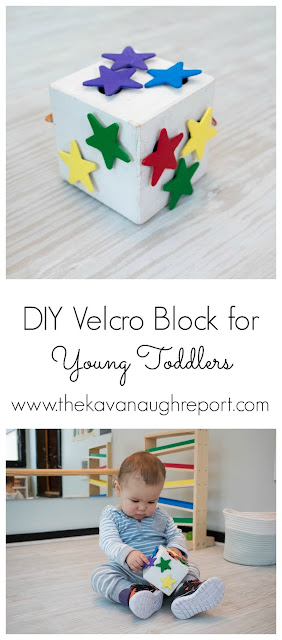 A DIY velcro block for older babies and young toddlers