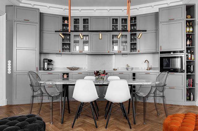 Dapur apartemen kecil, dapur apartemen studio, desain apartemen mewah