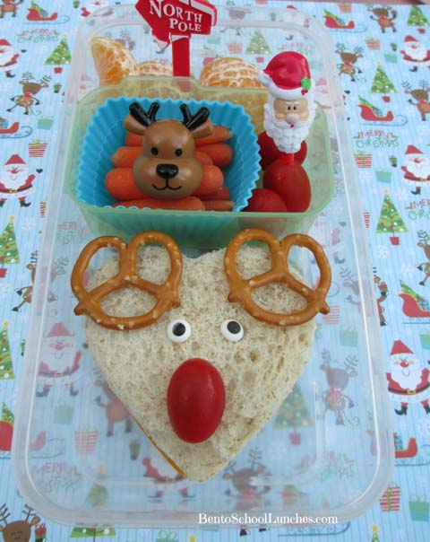 Rudolph The Red Nosed Reindeer, Christmas,Bento School Lunches