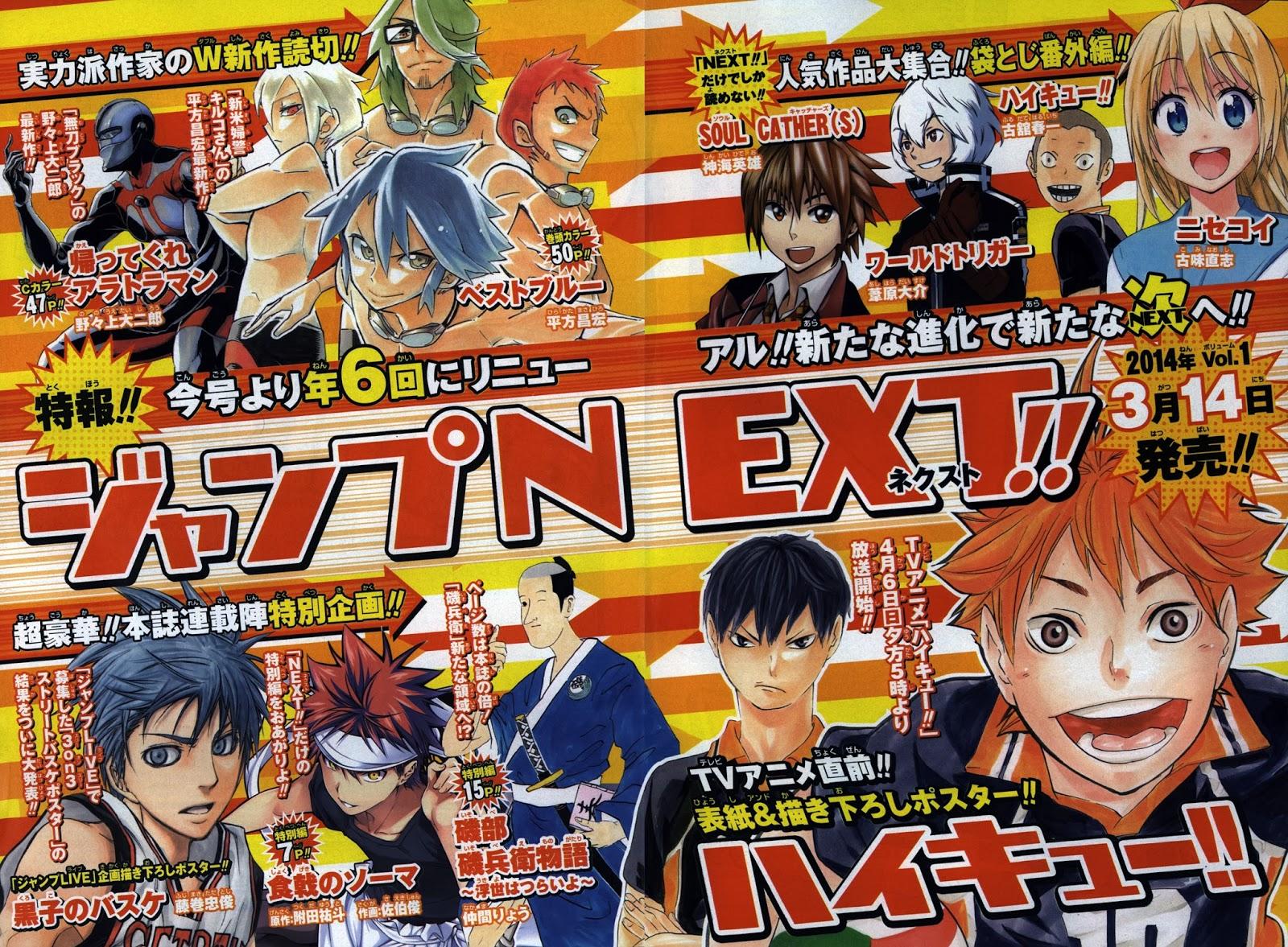Naruto News: Table of Contents 2014 - Weekly Shonen Jump ...