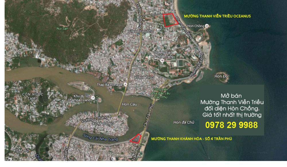 Vị trí Mường Thanh Viễn Triều Nha Trang