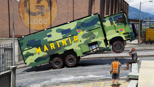 Mod Mobil Truk Marinir Indonesia GTA 5