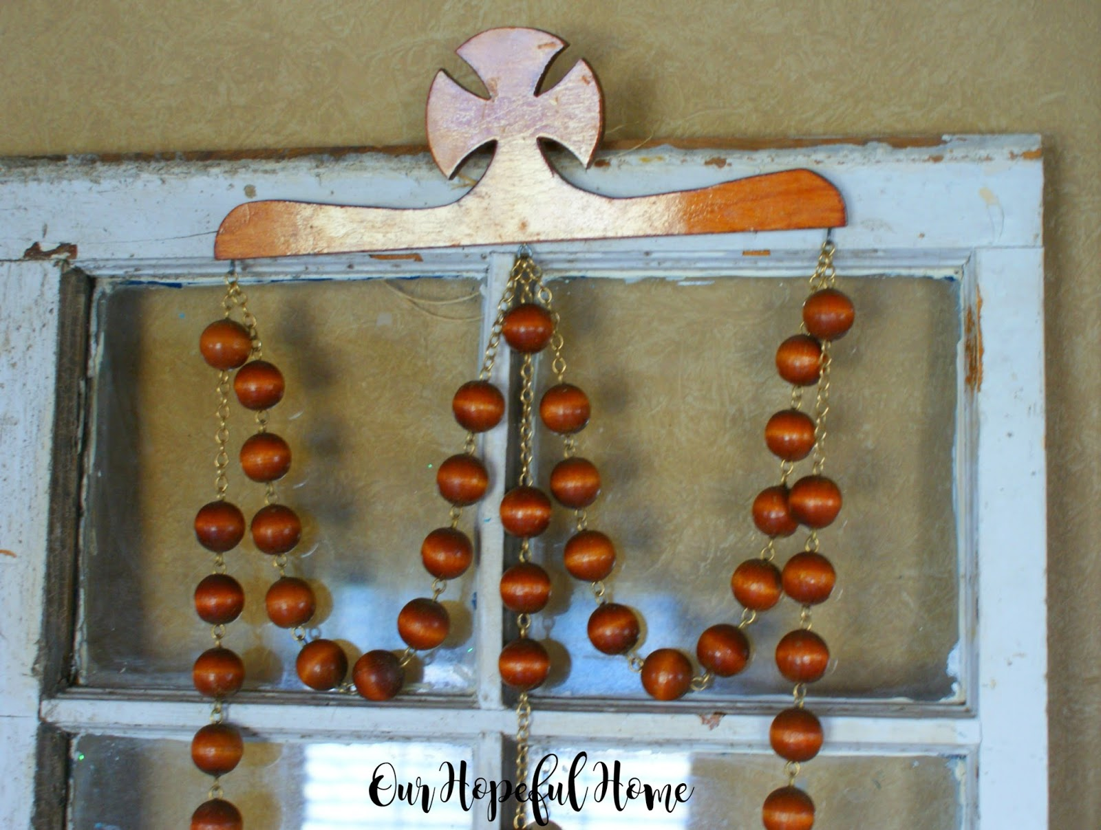 Our Hopeful Home Diy Farmhouse Wood Bead Garland