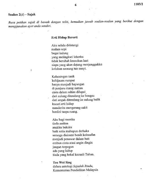 Laman Bahasa Melayu SPM: NOTA PERSEDIAAN UNTUK