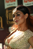Apoorva Spicy Pics in Cream Deep Neck Choli Ghagra WOW at IIFA Utsavam Awards 2017 64.JPG