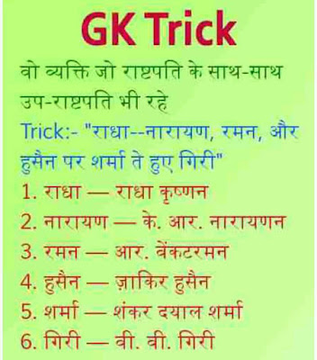short gk tricks in hindi