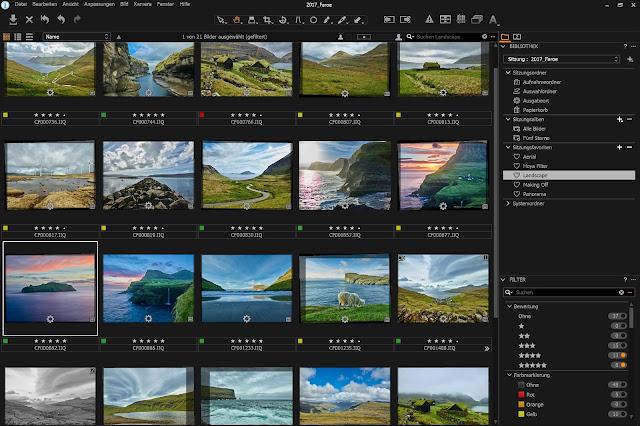 Bilder aussortieren mit Capture One Pro am Microsoft Surface Pro 4 - Gratis Arbeitsfläche zum Download
