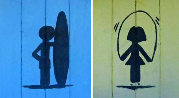 20+ Of The Most Creative Bathroom Signs Ever - Surfer's Bathroom