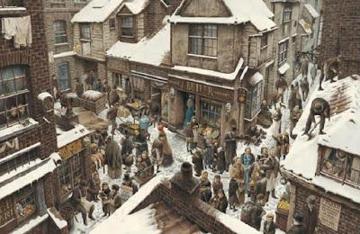 Εικονογράφηση της Χριστουγεννιάτικης Ιστορίας του Ντίκενς από τον Roberto Innocenti / A Christmas Carol illustration by Roberto Innocenti