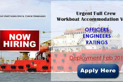 Hiring Crew For Workboat Accommodation Vessel