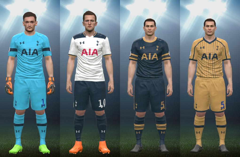 Wepes Sport Uniforme Tottenham Hotspur 2016 17 Pes 2016 Pc Ps3