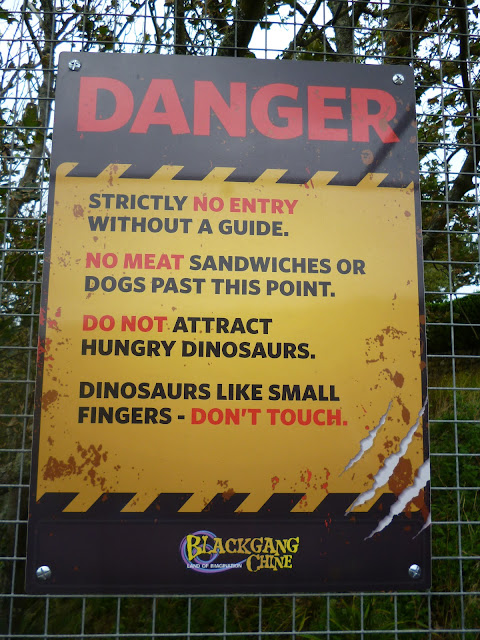 danger dinosaur sign Blackgang chine