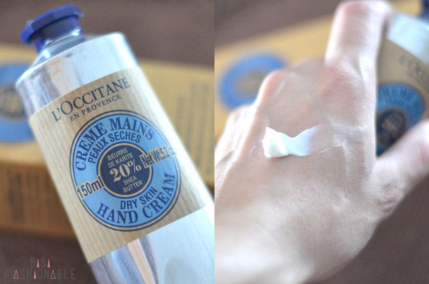 L'Occitane Handcreme Tube und Swatch
