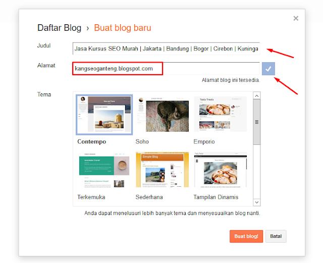 Panduan Daftar Blog Menggunakan Blogger Terbaru dan Terlengkap