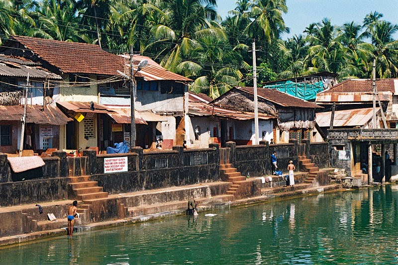 10 Best Backpacking Destinations in India | The public baths in the centre of the town, Gokarna, India