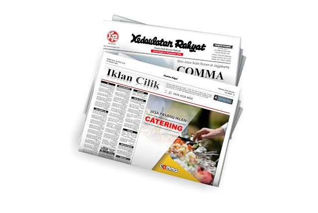 pasang iklan catering di koran Kedaulatan Rakyat