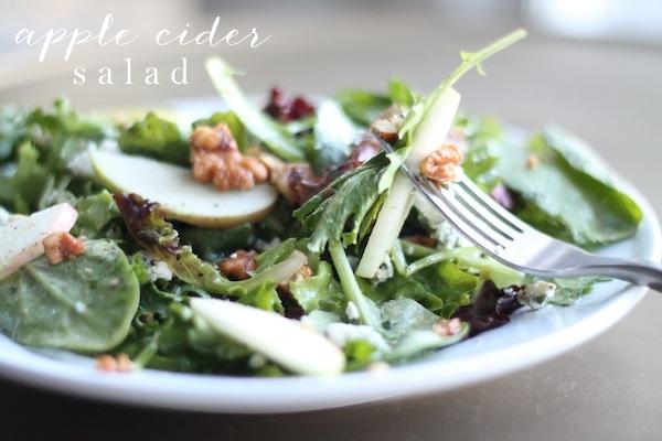 Fall Apple Cider Salad   Apple Cider Vinaigrette