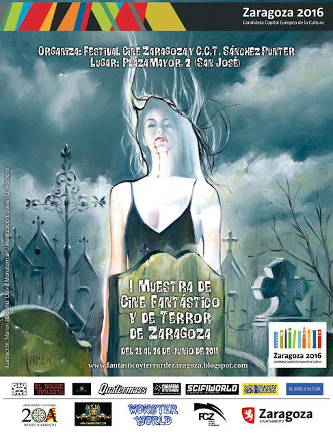 Cartel I muestra de Cine Fantástico y de Terror de Zaragoza
