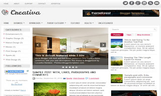 Creativa Blogger Template