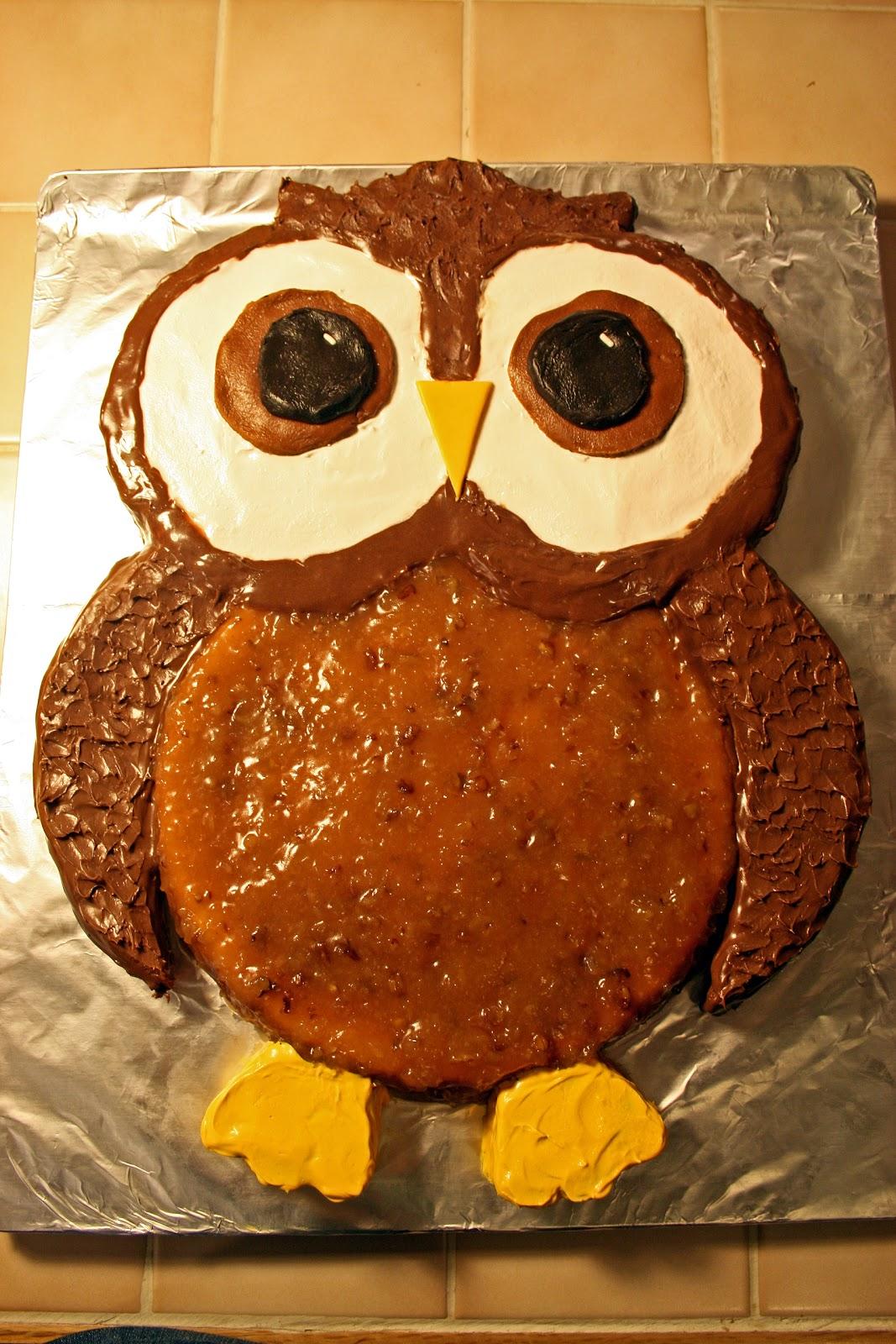 Lazy Gluten Free Birthday Extravaganza An Owl Cake For