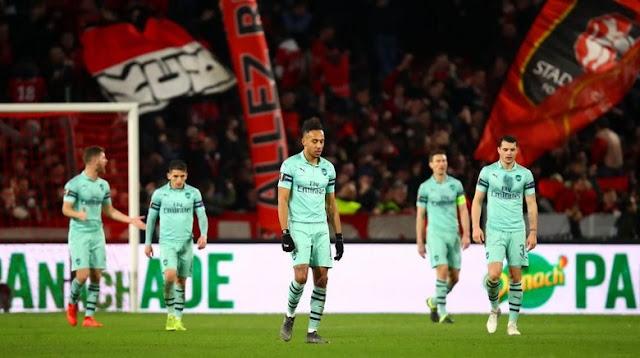 Hasil Liga Europa: Arsenal Kalah 1-3 dari Rennes