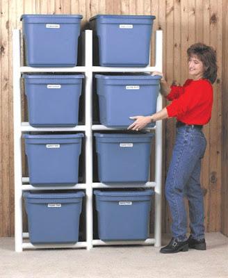 storage racks for plastic bins
