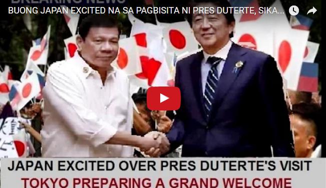 WATCH: Buong Japan Excited Na Sa Pagbisita Ni Pres Duterte, Sikat Na Sikat Daw Talaga Sa Japan