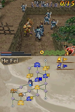 Dynasty Warriors DS: Fighter's Battle screenshot 1