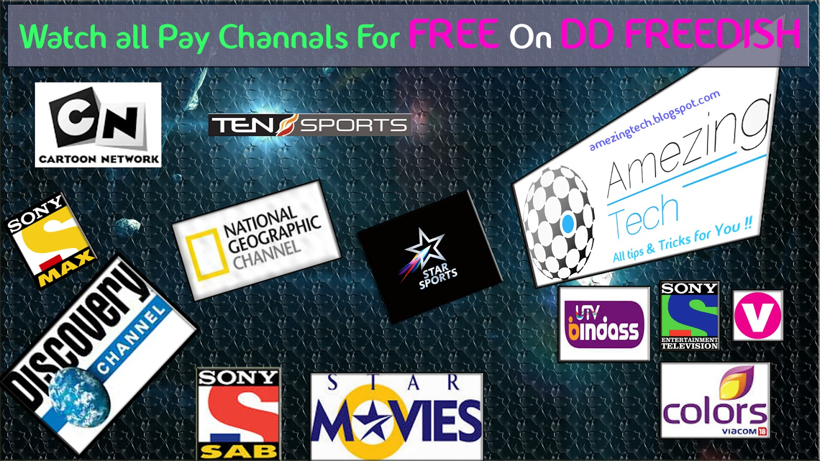 Secret Trick to watch pay channels on DD Freedish | Amezing Tech