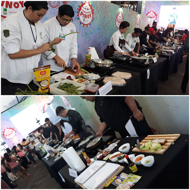 These are the Finalists and their PINOY dishes with a twist Chef's Name, Dish Name: