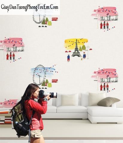 mẫu giấy dán tường cho Các bé từ 10-15 tuổi