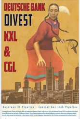 Today: Native women urge Deutsche Bank to divest in Pipelines and Fossil Fuels