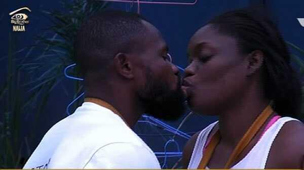 #BBNaija: Watch As Bisola Gives Kemen A Lap Dance
