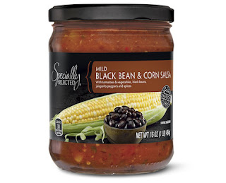 Stock image of Specially Selected Mild Black Bean and Corn Salsa, from Aldi