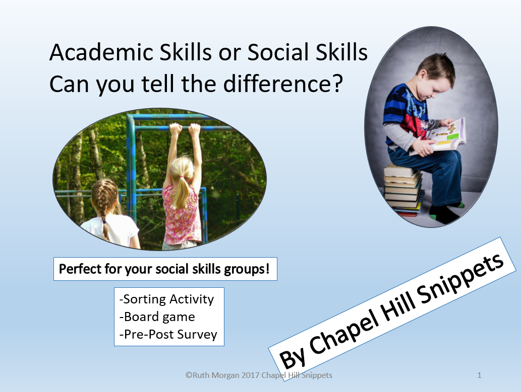 Chapel Hill Snippets Academic Skills Or Social Skills Sorting Activity And Game