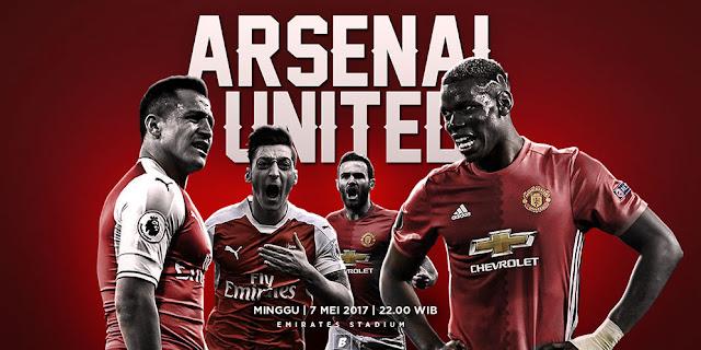 Prediksi Arsenal vs Manchester United 7 Mei 2017